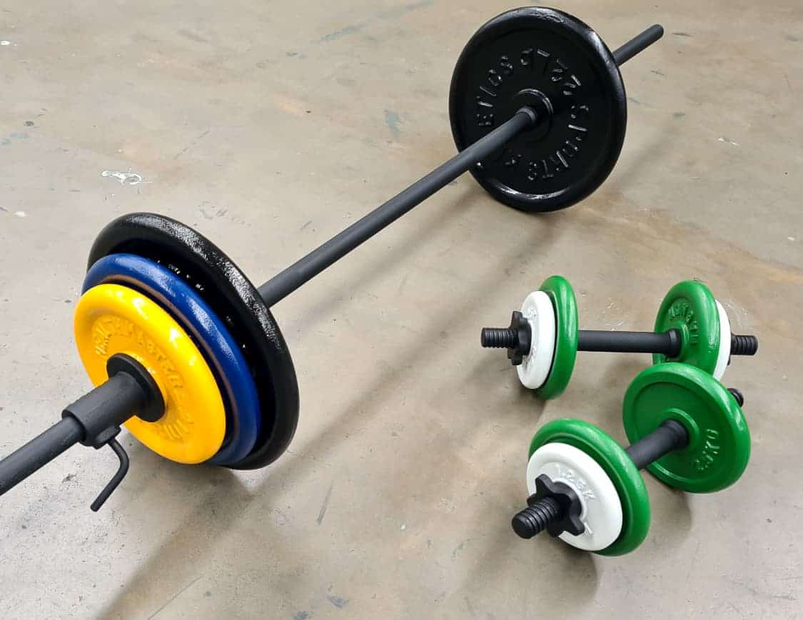 Spray Painted Weights